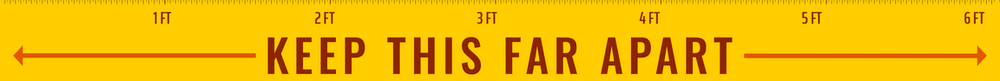 Image showing ruler that says 'Keep this far apart'
